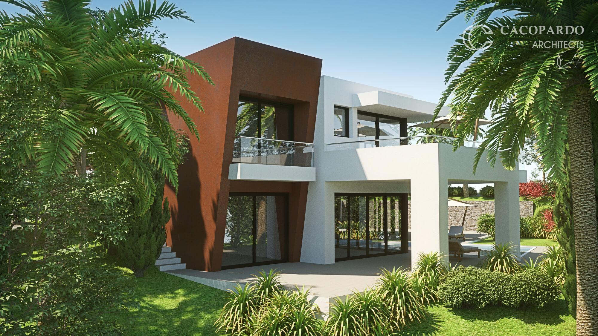 Desde el jardín, Diaphanous House, Marbella, Costa del Sol