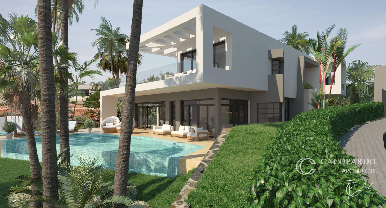 Área de piscina y jardín, Urbanización El Rosario, Marbella, Costa del Sol, Málaga