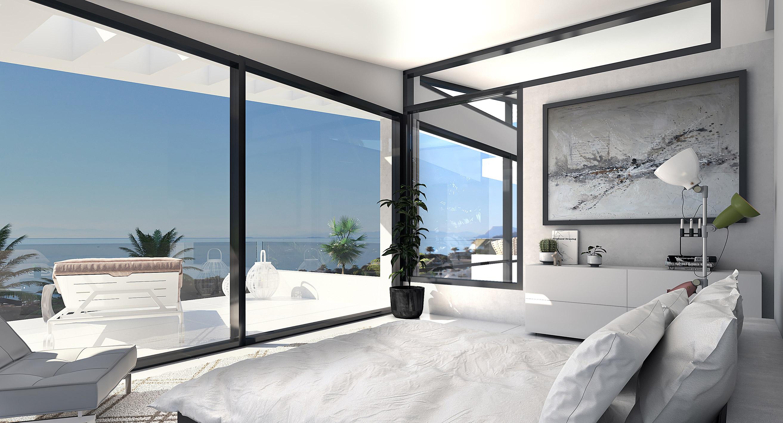 Villa de lujo dormitorio passivhaus marbella