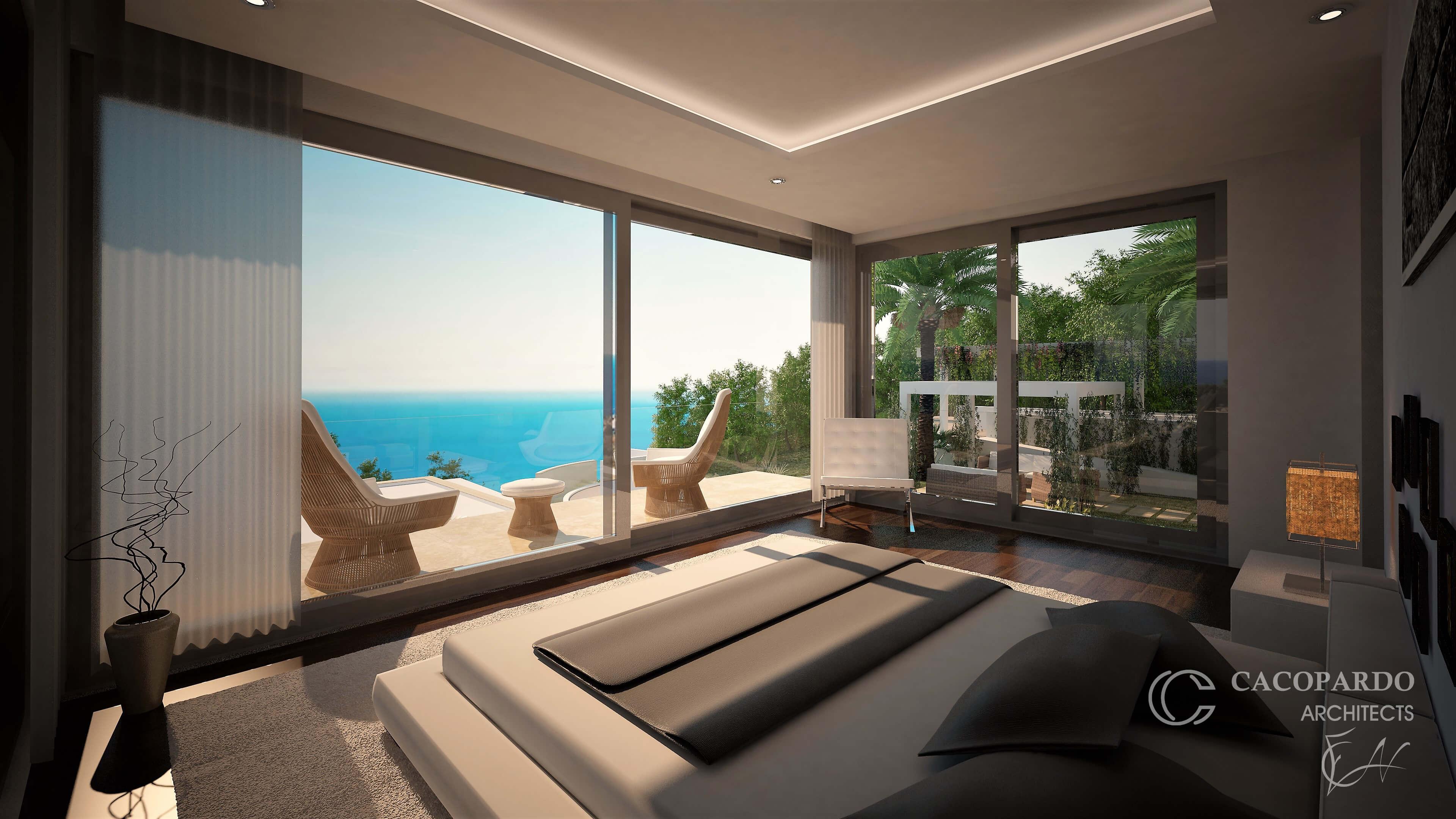 Vista del dormitorio-Villa 2-Urbanización Monteromero, La Cala de Mijas-Costa del Sol