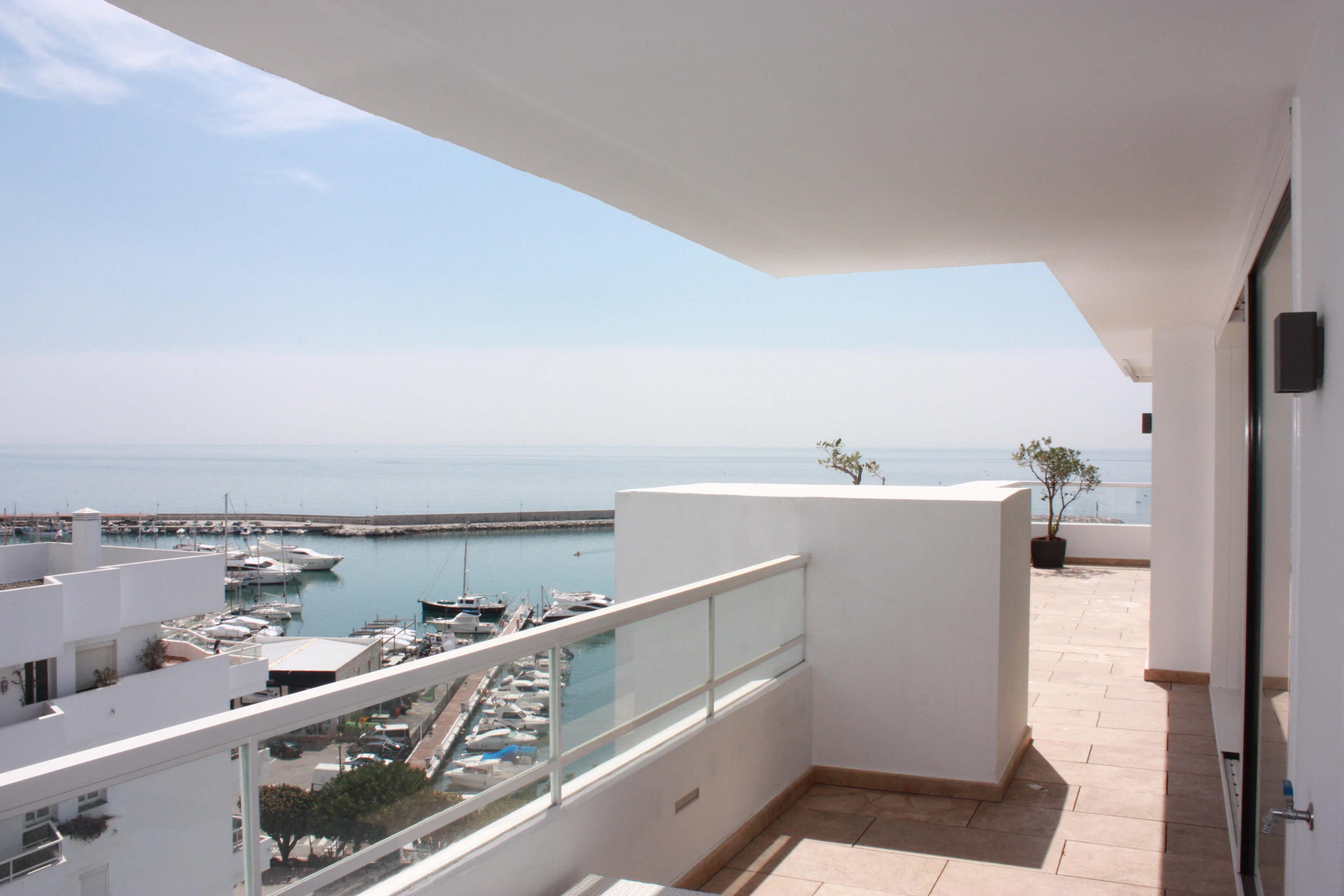 Vista terraza Ático -Estepona, Costa del Sol