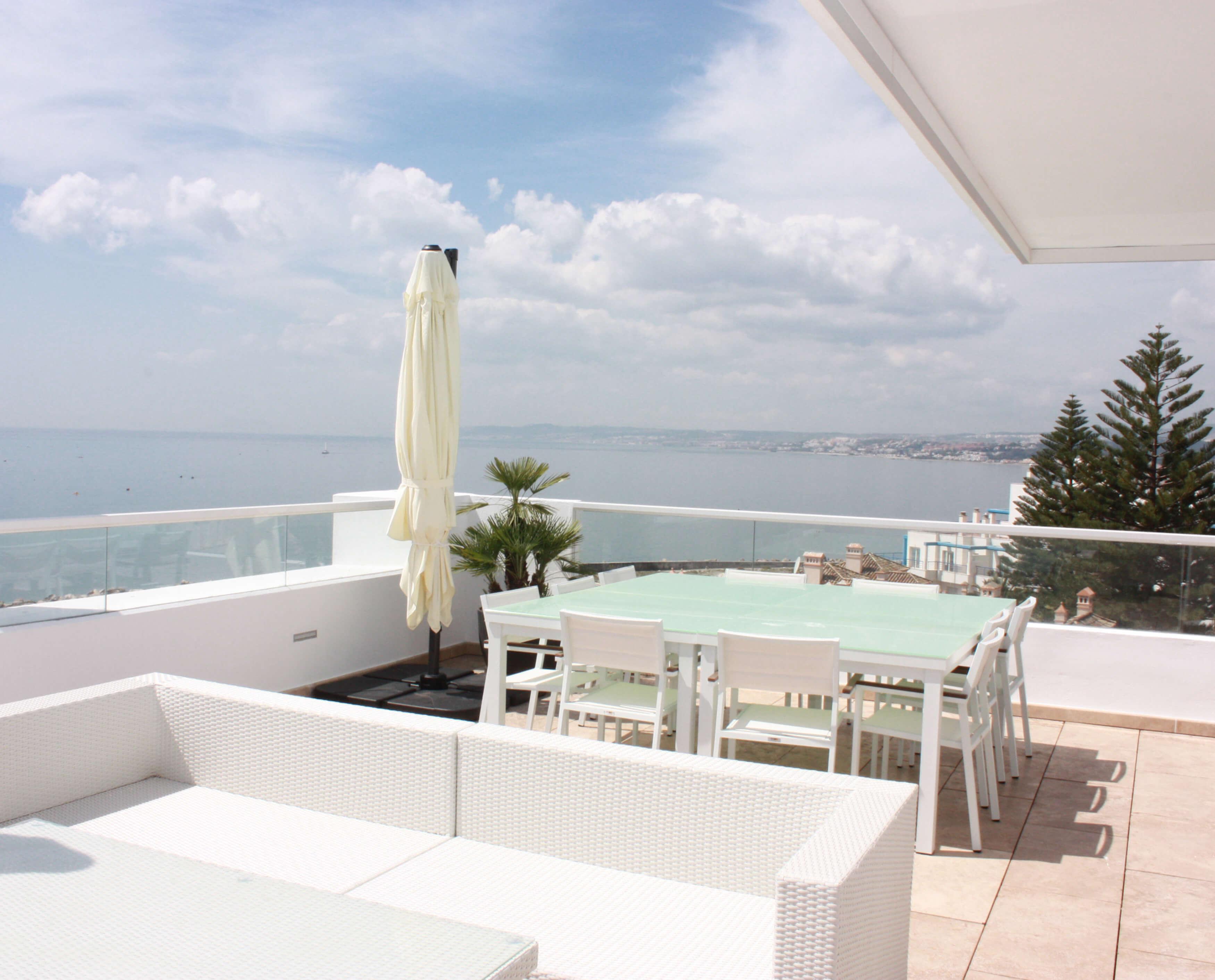 Vista terraza 1,Ático -Estepona, Costa del Sol