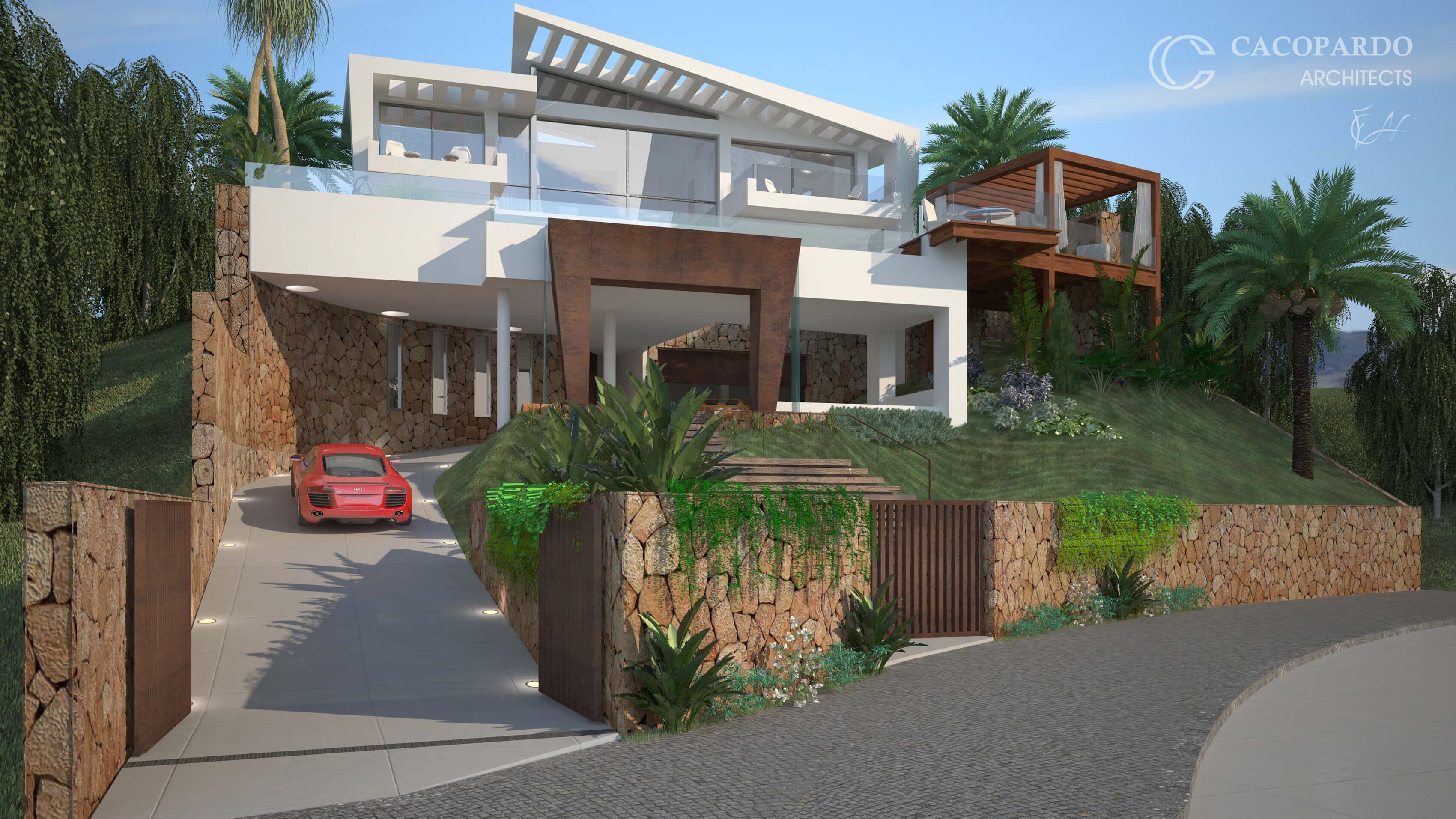 Vista desde la vía pública-Infinitum House- Costa del Sol