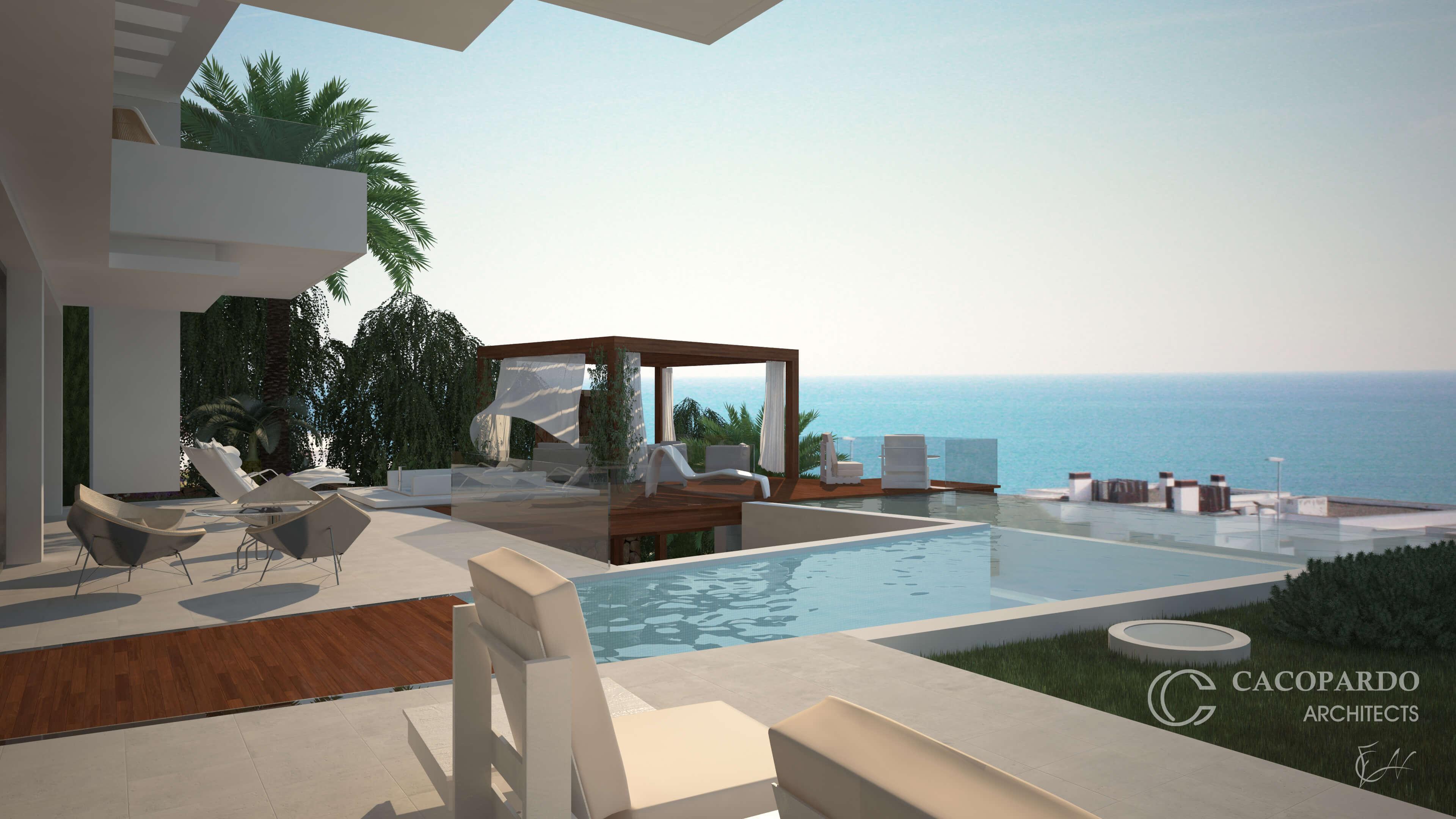 Vista desde el porche-Infinitum House- Costa del Sol