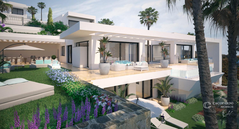 Villa 1- Vista desde el Jardín, La Cala de Mijas, Costa del Sol, Málaga