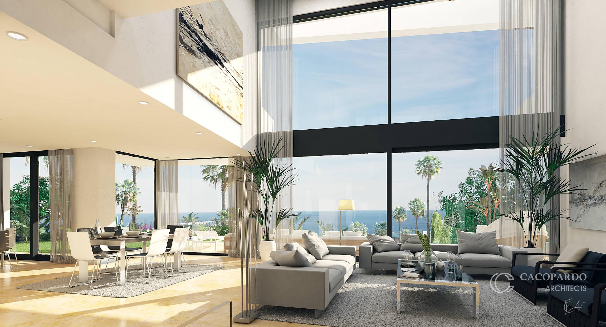 Villa 3, desde el salón, Urbanización Monteromero, La Cala de Mijas, Costa del Sol