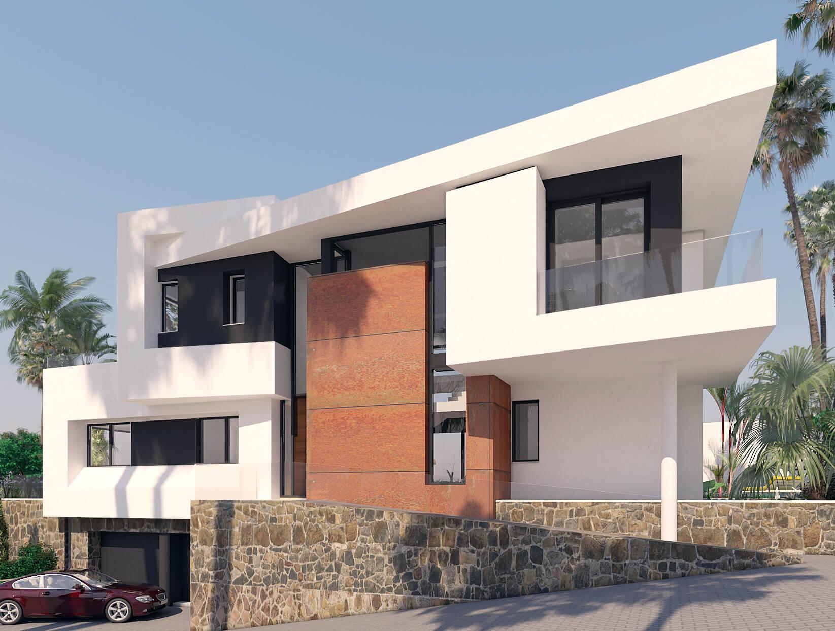 Villa 3, desde la Entrada, Urbanización Monteromero, La Cala de Mijas, Costa del Sol