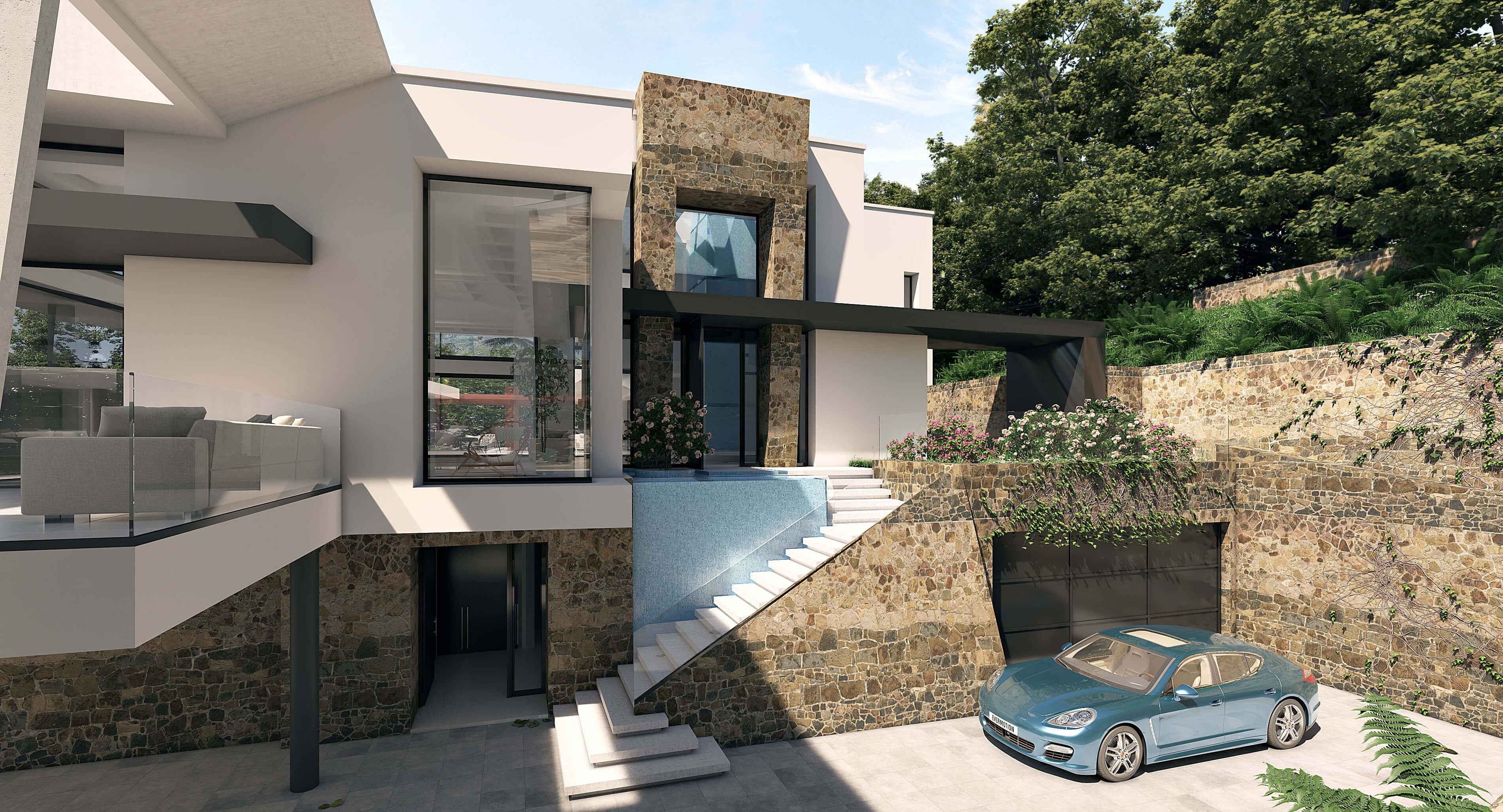 villa passive house costa del sol entrada